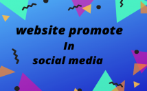 promote your website share social media