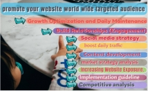 promote your website or business to millions of world wide active audience