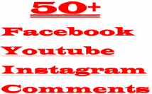 50 + Facebook Youtube Instagram USA Comments writings anywhere Lifetime Guaranteed Verified Customer Comments Active Users