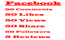 Facebook 50 Comments+50 Likes+50 Views+50 Share+50 Followers+5 Reviews,Lifetime Guaranteed Verified Customer Active Users
