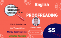 proofread and edit your writing