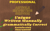 write an article or blog post in any niche