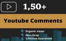 provide 150 Organic Youtube Comments   HQ Quality And Lifetime Guarantee