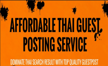 build high quality SEO backlinks by guest posting on real Thai blog